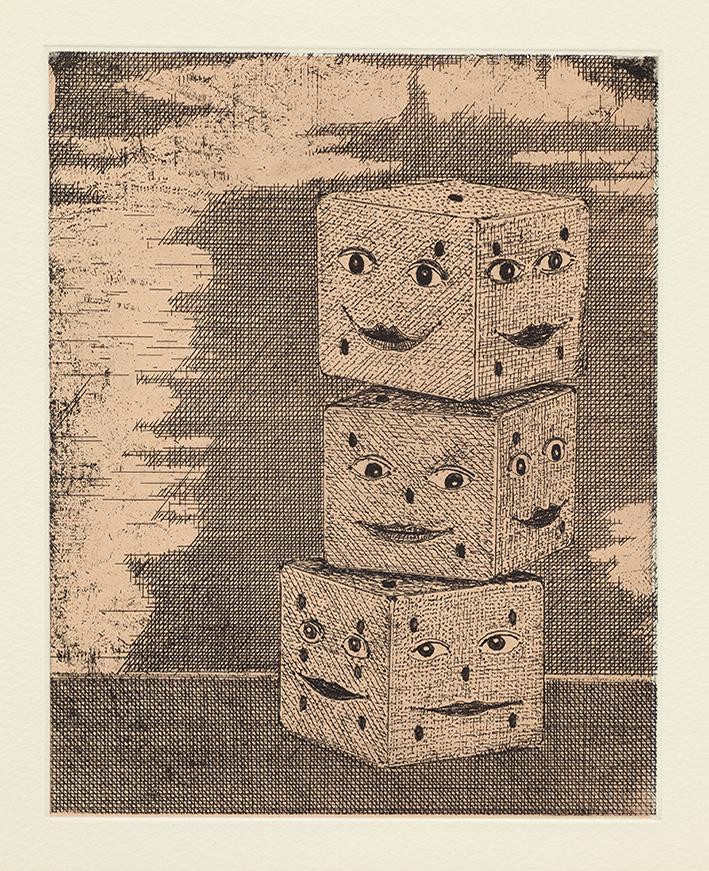 The Gambler, 36 x 29 cm, Etching, 2014