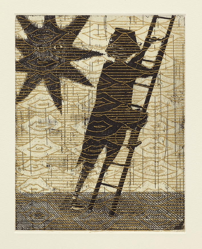 The Escape, 36 x 29 cm, Etching, 2014