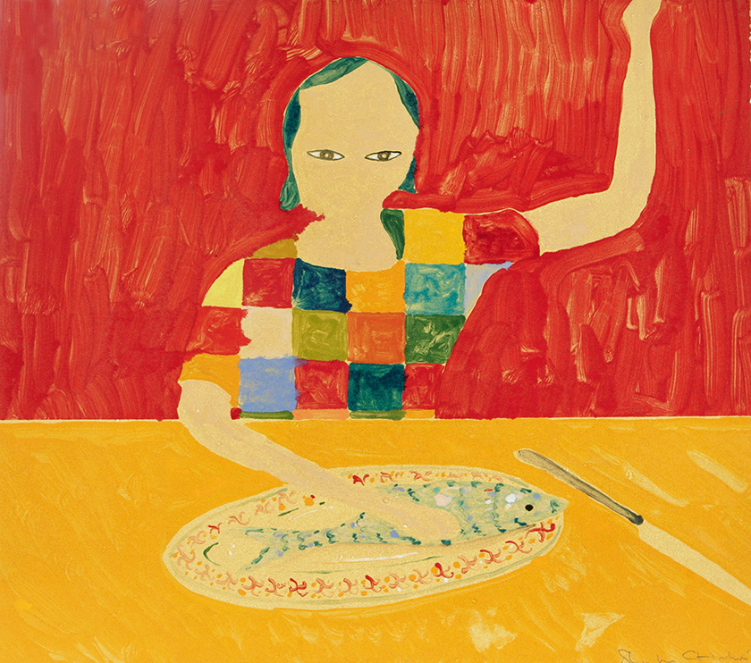 Restaurant (Gill's Place), 35 x 40 cm, Monotype, 2005