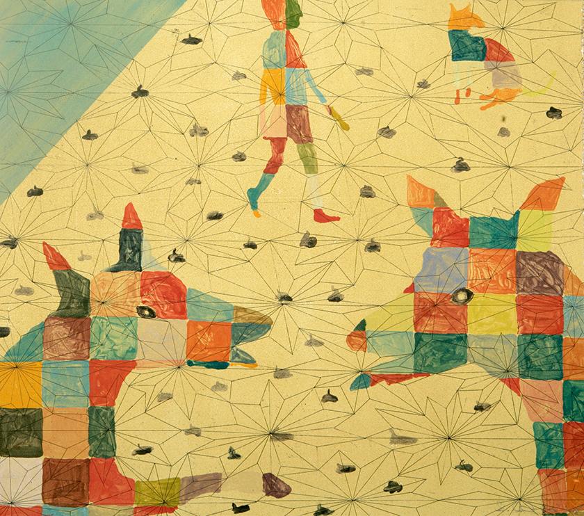 Doges Palace, 39 x 44 cm, Monotype, 2005