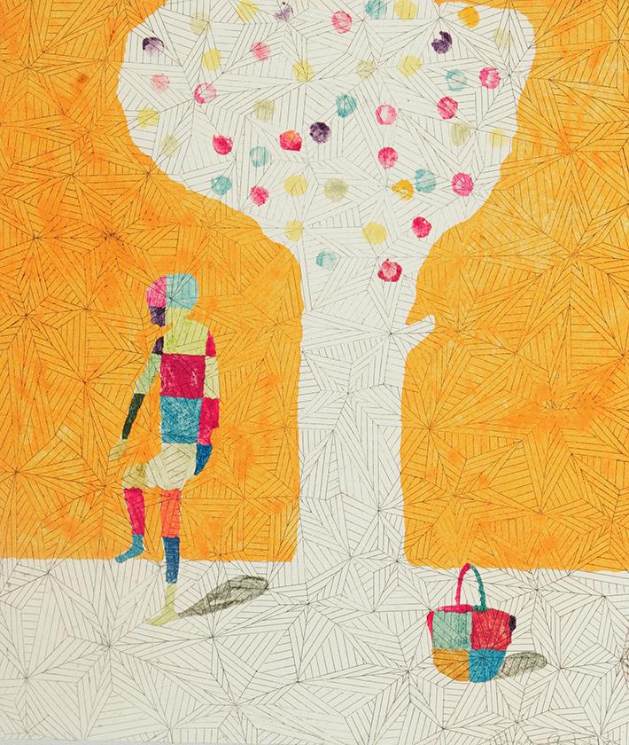 Boy-Fruit-Tree 1, 25 x 21 cm, Monotype, 2005