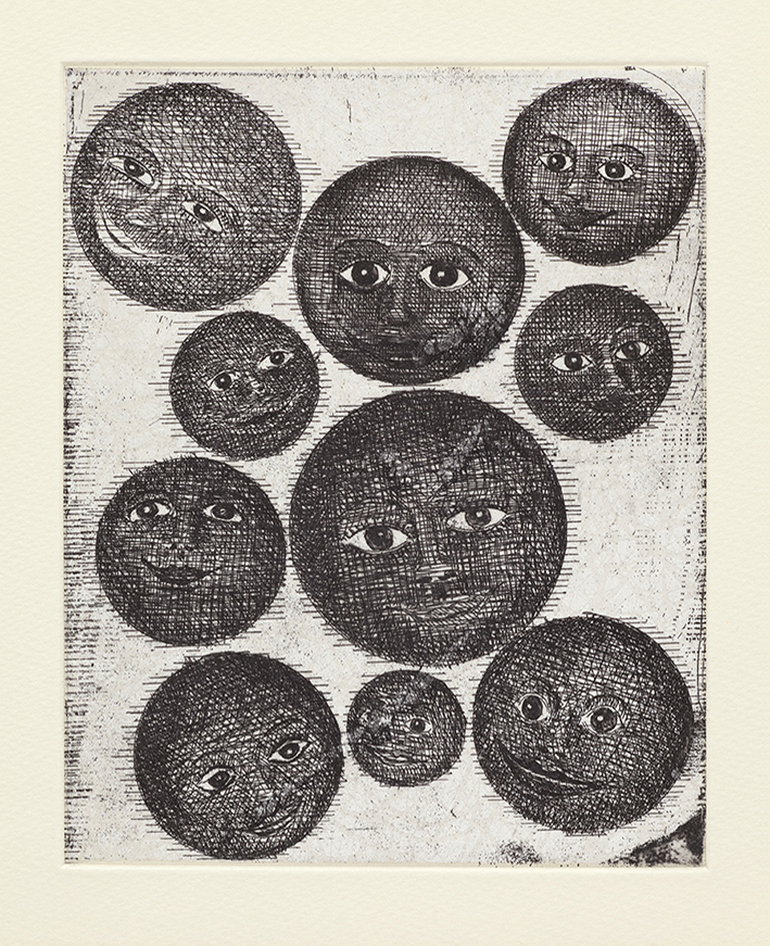 All His Lovers, 36 x 29 cm, Etching, 2014