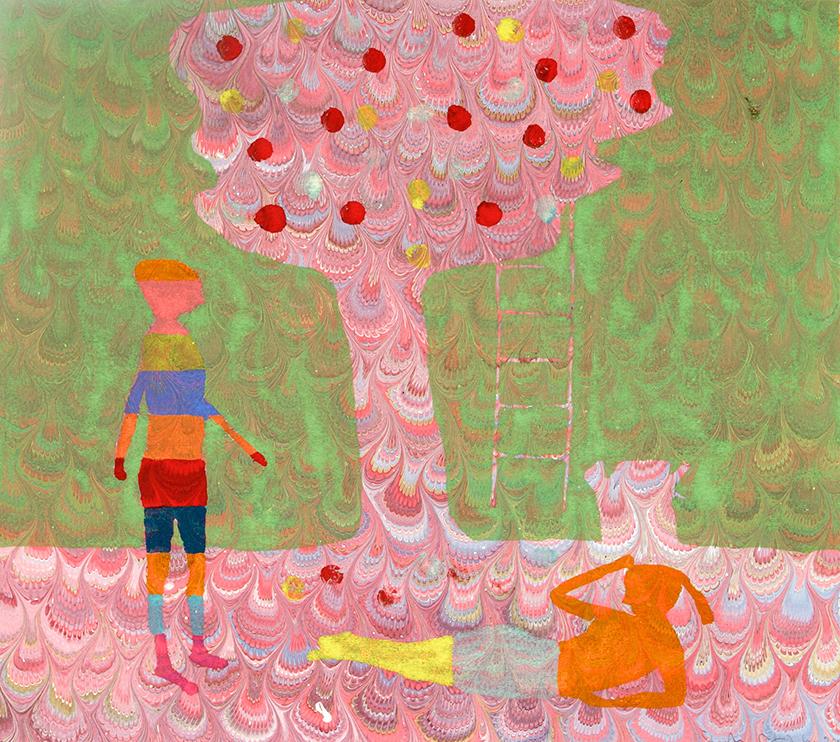 Of Talking Lust 2, 35 x 40 cm, Monotype, 2005