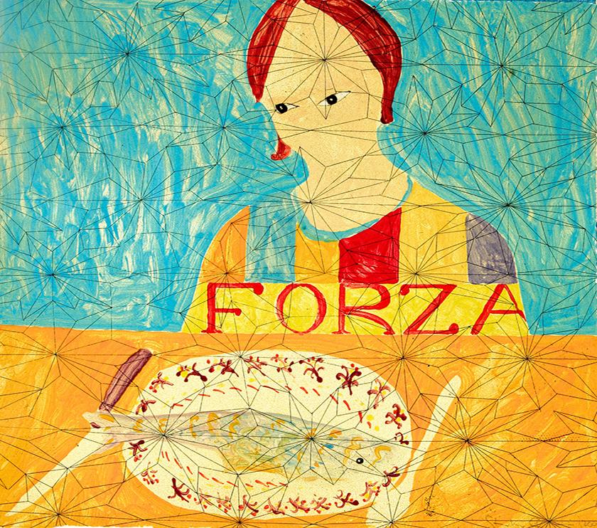 Forza, 39 x 44 cm, Monotype, 2005