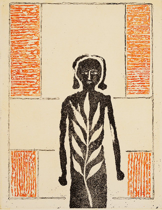 One Woman, 57 x 45 cm, Etching, 1993