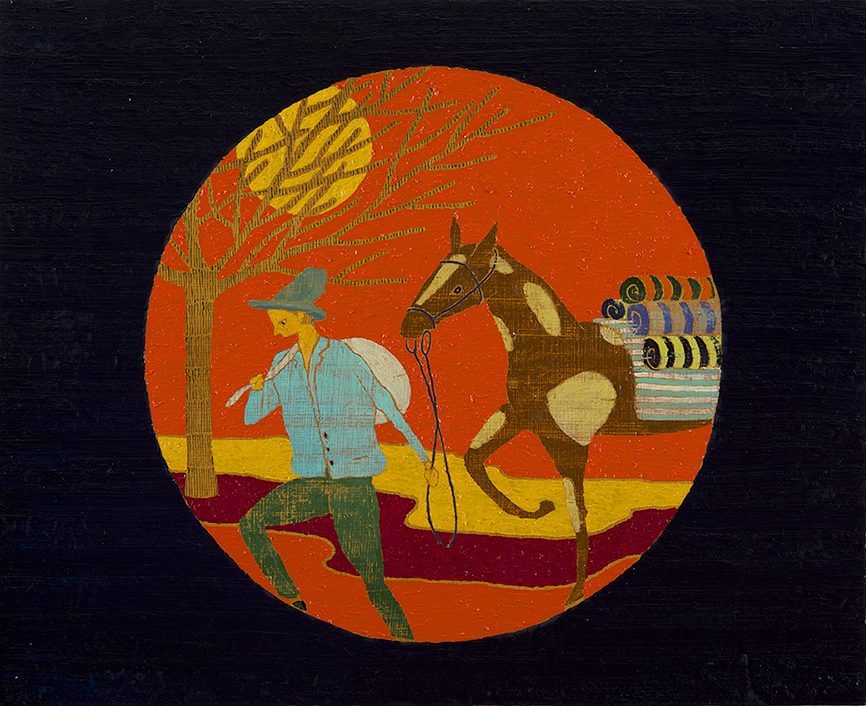 Horsethief, 39 x 48 cm, Oil on Panel, 2014, Private Collection